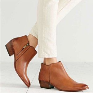 Sam Edelman Tan Brown Leather Ankle Booties 8.5